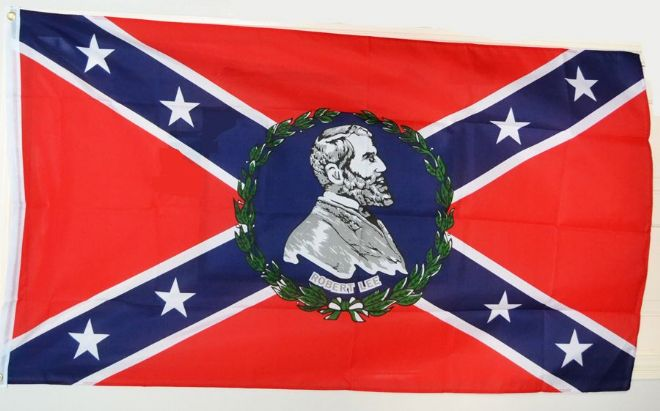Confederate Flag With General Lee Image